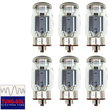 Brand New Tung-Sol Reissue KT66 Plate Current Matched Sextet (6) Vacuum Tubes