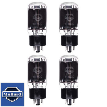 Brand New Mullard Reissue 6L6GC 6L6  Current Matched Quad (4) Vacuum Tubes