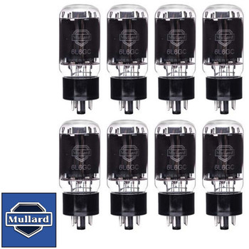 Brand New Mullard Reissue 6L6GC 6L6 Current Matched Octet (8) Vacuum Tubes