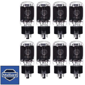 Brand New Mullard Reissue 6L6GC 6L6 Current Matched Octet (8) Vacuum Tubes