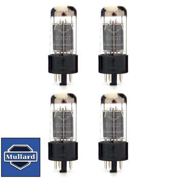 Brand New Current Matched Quad (4) Mullard Reissue 6V6GT 6V6 Vacuum Tubes