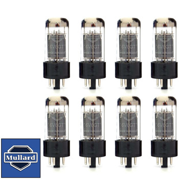 Brand New Mullard Reissue 6V6GT 6V6 Current Matched Octet (8) Vacuum Tubes