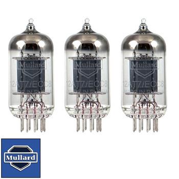 Brand New Gain Matched Trio (3) Mullard Reissue  ECC81 12AT7 Vacuum Tubes