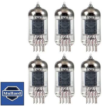 Brand New Mullard Reissue 12AT7 ECC81 Gain Matched Sextet (6) Vacuum Tubes