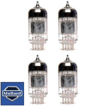 Brand New Mullard Reissue ECC82 12AU7 Gain Matched Quad (4) Vacuum Tubes