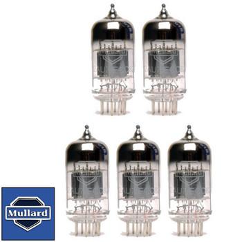 Brand New Gain Matched Quintet (5) Mullard Reissue 12AU7 Vacuum Tubes