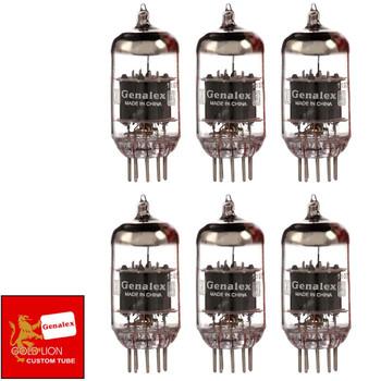 Genalex Reissue ECC83 12AX7 Gain Matched Sextet (6) STANDARD PINS Vacuum Tubes