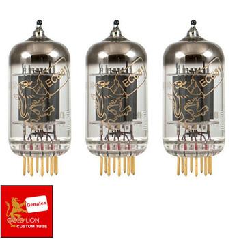New Genalex Reissue ECC81 12AT7 Gain Matched Trio (3) GOLD PINS Vacuum Tubes