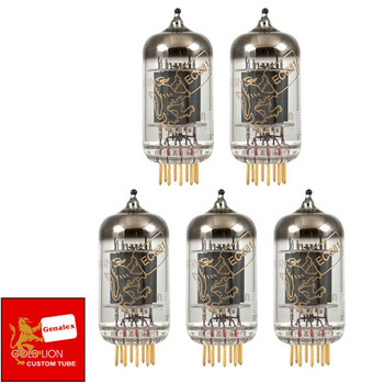New Genalex Reissue 12AT7 ECC81 GOLD PINS Gain Matched Quintet (5) Tubes