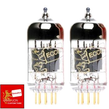New Gain Matched Pair (2) Genalex Reissue 12AU7 ECC82 GOLD PINS Vacuum Tubes