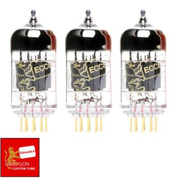 New Genalex Reissue ECC82 12AU7 Gain Matched Trio (3) GOLD PINS Vacuum Tubes