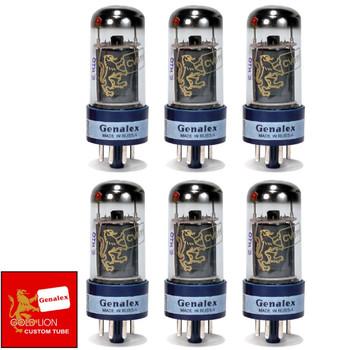 Brand New Genalex Reissue 6V6GT 6V6 Current Matched Sextet (6) Vacuum Tubes