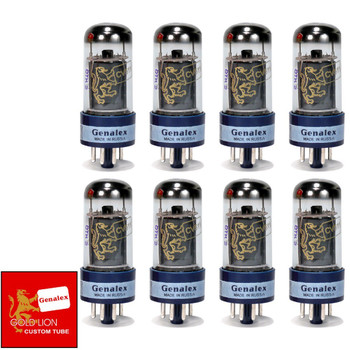 Brand New Genalex Reissue 6V6GT 6V6 Current Matched Octet (8) Vacuum Tubes