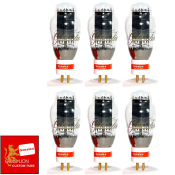 New Genalex Reissue 300B PX300B GOLD PIN Matched Sextet (6) Vacuum Tubes