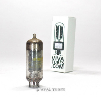 Dumont USA 6CG7 [6FQ7] 3 Gray (silver shield) Plate Top Get Vacuum Tube 89%/92%