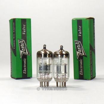 True NOS NIB Gain Matched Pair (2) RFT Germany CV455 / 12AT7WA Vacuum Tubes