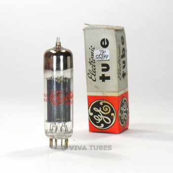 True NOS NIB GE USA 6CZ5 Black Plate O Get TALL BOTTLE Vacuum Tube 89%