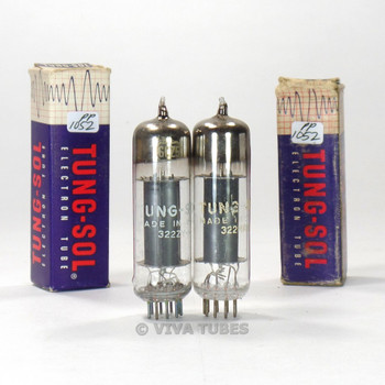 True NOS NIB Matched Pair Tung-Sol USA 6CZ5 Black Plate TALL BOTTLE Vacuum Tubes