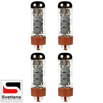 Plate Current Matched Quad (4) Svetlana EL34 [Winged =C= Reissue] Vacuum Tubes