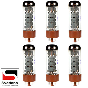 Plate Current Matched Sextet (6) Svetlana EL34 [Winged =C= Reissue] Vacuum Tubes