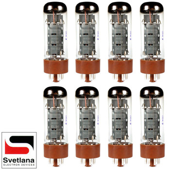 Plate Current Matched Octet (8) Svetlana EL34 [Winged =C= Reissue] Vacuum Tubes