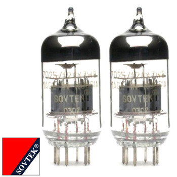 Gain Matched Pair (2) Sovtek 12AX7WB 7025 ECC83 Vacuum Tubes - Brand New