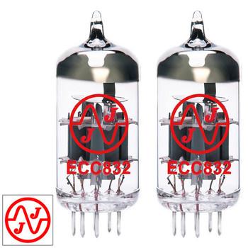 Gain Matched Pair (2) JJ 12DW7 / ECC832 / 7247 Vacuum Tubes - Brand New