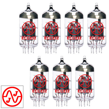 Gain Matched Septet (7) JJ 12DW7 / ECC832 / 7247 Vacuum Tubes - Brand New