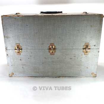 Large, Blue, Pacemaker, Vintage Radio TV Vacuum Tube Valve Caddy Carrying Case