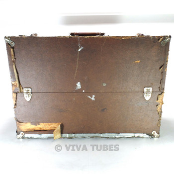Large, Brown, Carry-All, Vintage Radio TV Vacuum Tube Valve Caddy Carrying Case
