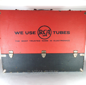 Large, Black, RCA, Vintage Radio TV Vacuum Tube Valve Caddy Carrying Case