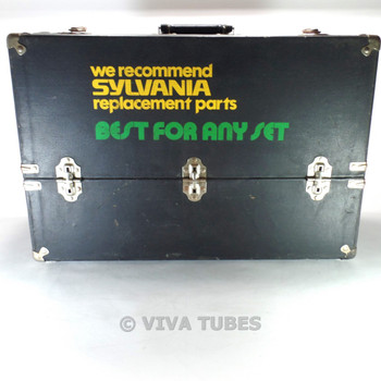 Larg, Black, Sylvania, Vintage Radio TV Vacuum Tube Valve Caddy Carrying Case