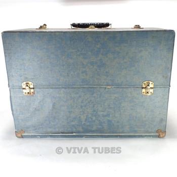 Medium, Blue, Raytheon, Vintage Radio TV Vacuum Tube Valve Caddy Carrying Case