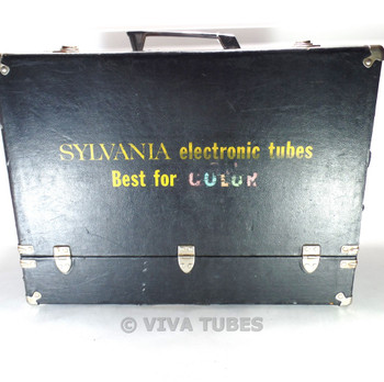 Large, Black,Sylvania, Vintage Radio TV Vacuum Tube Valve Caddy Carrying Case