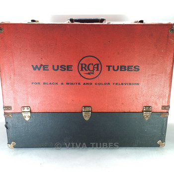Large, Red Black, RCA, Vintage Radio TV Vacuum Tube Valve Caddy Carrying Case