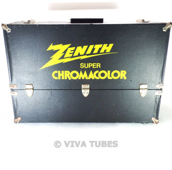 Large, Black, Zenith, Vintage Radio TV Vacuum Tube Valve Caddy Carrying Case