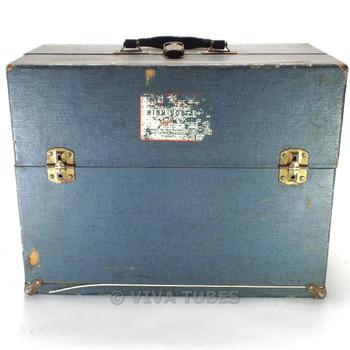 Small, Blue, Raytheon, Vintage Radio TV Vacuum Tube Valve Caddy Carrying Case