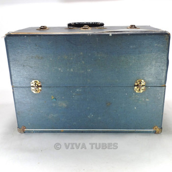 Blue Speckled, Raytheon, Vintage Radio TV Vacuum Tube Valve Caddy Carrying Case