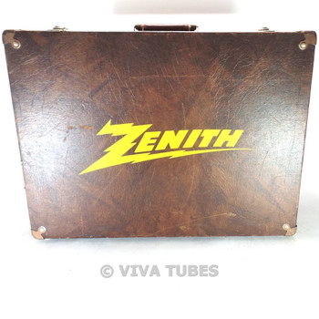 Large Brown, Zenith, Vintage Radio TV Vacuum Tube Valve Caddy Carrying Case