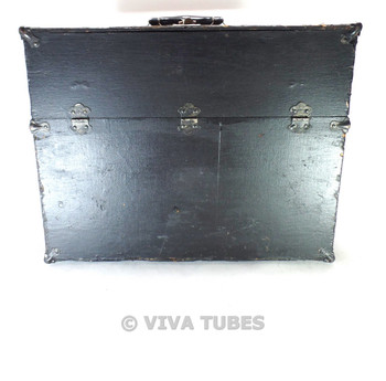 Hand-Painted Black, Westinghouse, Vintage Radio TV Vacuum Tube Valve Caddy Case