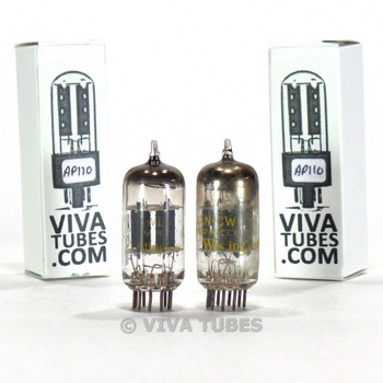 Tests NOS Matched Pair Westinghouse USA JAN-CWL-12AX7 Gray Plate Vacuum Tubes