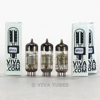 Tests NOS Matched Trio 3 Amperex Holland 6EJ7/EFT184 Mesh Plate Vacuum Tubes