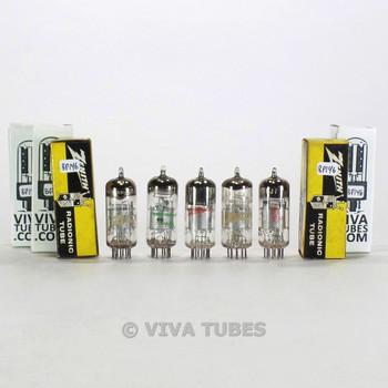 Tests NOS Matched Sleeve (5) Amperex Holland 6EJ7/EFT184 Mesh Plate Vacuum Tubes