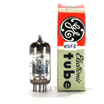 True NOS NIB Amperex Holland ECC189/6ES8 Gray Plate O Get Vacuum Tube