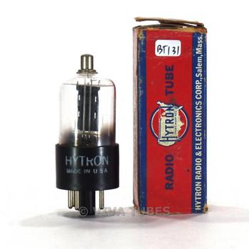 True NOS NIB Hytron USA 6F5GT Black Smooth Plate D Dimple Get Vacuum Tube