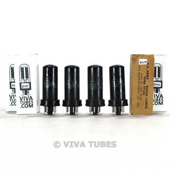 True NOS Matched Quad (4) RCA USA VT-66/6F6 Metal Vacuum Tubes