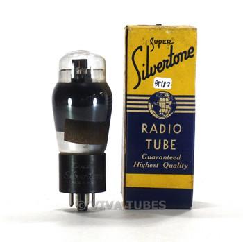 True NOS NIB Super Silvertone USA 6F6G Black D Dimple Get SMOKED Vacuum Tube