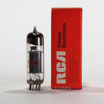 True NOS NIB RCA Mexico 6BM8/ECL82 Gray Plate Large Vacuum Tube 100%+
