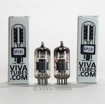 Matched Pair Siemens W Germany 6DJ8 [ECC88] GRAY SHIELD  Tubes 80%