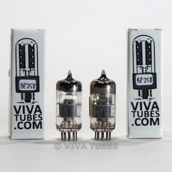 Matched Pair Toshiba Japan 6DJ8 [ECC88] Silver Shield Tubes 94/9100% & 86/86%